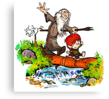 Gandalf and Bilbo calvin hobes Canvas Print
