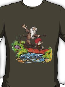 Gandalf and Bilbo calvin hobes T-Shirt