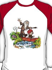 Gandalf and Bilbo calvin hobes T-Shirt