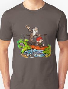 Gandalf and Bilbo calvin hobes Unisex T-Shirt