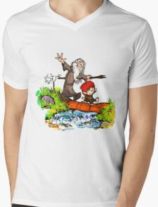 Gandalf and Bilbo calvin hobes Mens V-Neck T-Shirt
