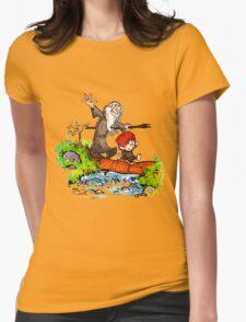 Gandalf and Bilbo calvin hobes Womens Fitted T-Shirt