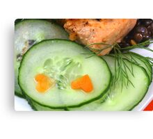 Fitness Food Canvas Print