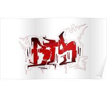 BTS N.O. Graffiti Poster