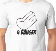 4 Banger Decal (White) Unisex T-Shirt