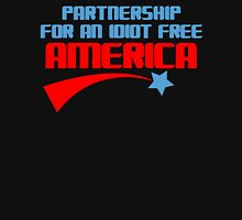 PARTNERSHIP FOR AN IDIOT FREE AMERICA Funny Geek Nerd Unisex T-Shirt