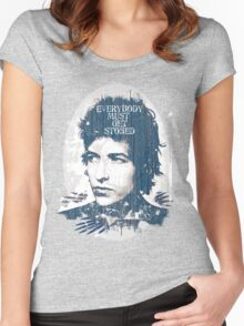 Dylan Gets Stoned Women's Fitted Scoop T-Shirt