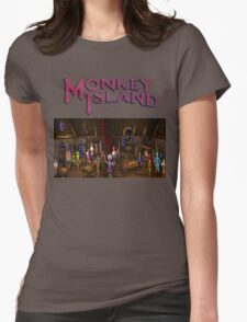 Monkey island  Womens Fitted T-Shirt