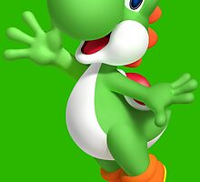 Yoshi Waving like a fool by MrDangerous