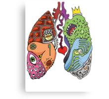 Stupid Lookin' Lungs Metal Print