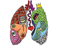 Stupid Lookin' Lungs Photographic Print