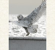 Snowy Owl Dancing at the Beach Zipped Hoodie