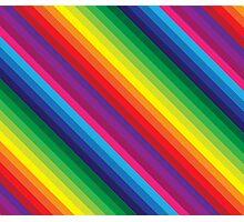 RAINBOW STRIPE bright bold colourful Photographic Print