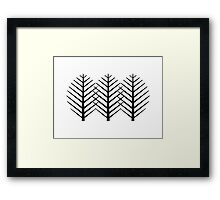 Trees Or Leaves Framed Print