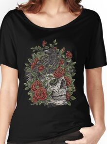 Floral Skull Women's Relaxed Fit T-Shirt