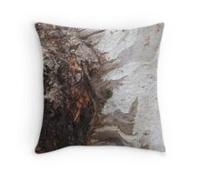 Gum tree bark 13: the burl up close Throw Pillow