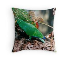 Eclectus Parrots Throw Pillow