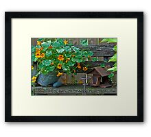 Nasturtiums In The Breeze Framed Print