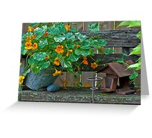 Nasturtiums In The Breeze Greeting Card