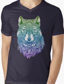 Abstract Wolf Mens V-Neck T-Shirt