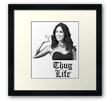 Megan_Thug_Life Framed Print