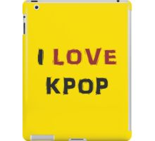 I LOVE KPOP - YELLOW iPad Case/Skin