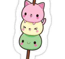 Kawaii Dango Kitty Sticker
