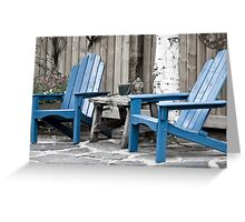 Blue Seating For Two Greeting Card