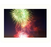 Australia Day Fireworks Art Print