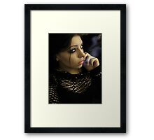 Lying Temptress Framed Print