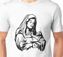 Virgin Mary and Child-3 Unisex T-Shirt