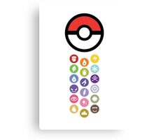 Pokemon Types Canvas Print