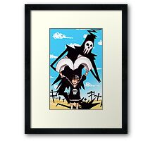 Death and His Boy Framed Print