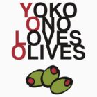 YOLO (Yoko Ono Loves Olives) by jezkemp