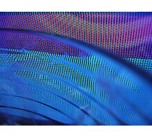 Purple, Blue and Green Distortions Photographic Print