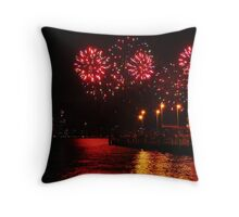 Bursts of Red - Perth Skyworks 2009 Throw Pillow
