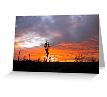 Sunset - Blue and Orange Greeting Card