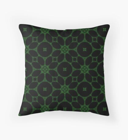 Gothic Black and Green 2 Throw Pillow