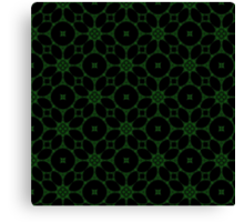Gothic Black and Green 2 Canvas Print