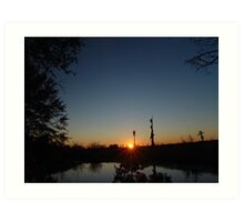 Sunset  with Rays Art Print
