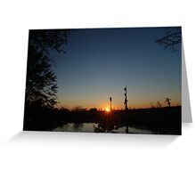 Sunset  with Rays Greeting Card