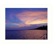 Sunset on St. Andrews Bay Art Print