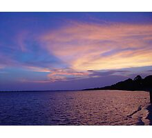 Sunset on St. Andrews Bay Photographic Print