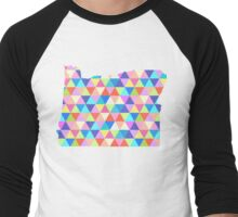 Oregon State of Colorful Triangles  Men's Baseball ¾ T-Shirt