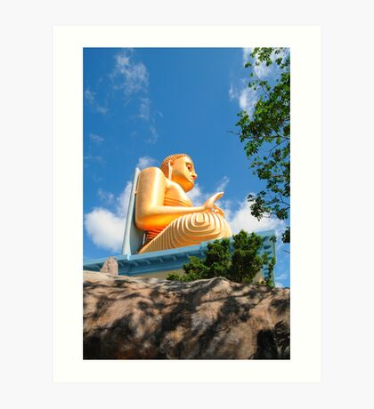 Golden Budda statue Art Print