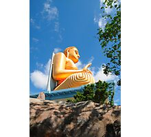 Golden Budda statue Photographic Print