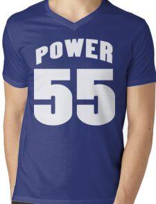Power 55 Funny Geek Nerd Mens V-Neck T-Shirt