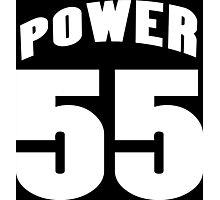 Power 55 Funny Geek Nerd Photographic Print