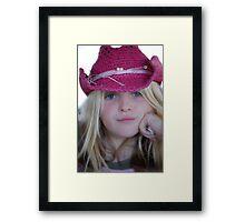 Little Cowgirl! Framed Print