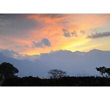 Tea Plantation Sunset Photographic Print